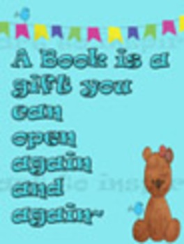 Library Book Poster--Bulletin Boards, Posters, Clipart