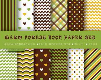 Background paper, green, brown, yellow, scrapbooking, craft