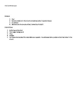 Background quiz 1 + 2 Corinthians