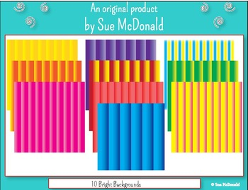 Backgrounds - 10 Bright Colored Backgrounds   - High Quality Vector Graphics