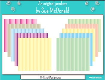 Backgrounds - 10 Pastel Colored Backgrounds   - High Quality Vector Graphics