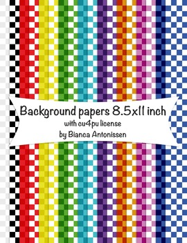 Backgrounds 8.5x11 inch - checkers digital papers - commer