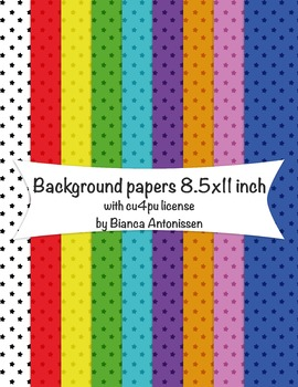 Backgrounds 8.5x11 inch - digital papers - commercial use