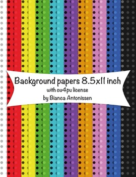 Backgrounds 8.5x11 inch - dotted digital papers - commercial use