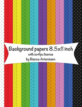 Backgrounds 8.5x11 inch - small dots digital papers - comm