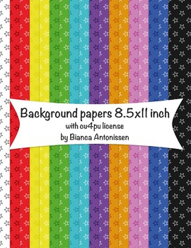 Backgrounds 8.5x11 inch - star digital papers - commercial use
