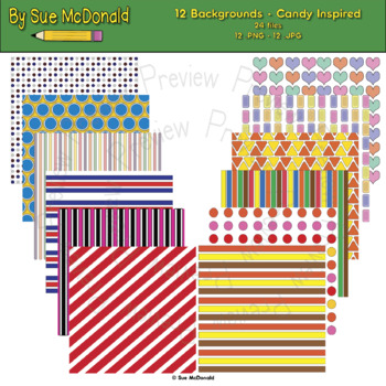 Backgrounds, Candy Inspired - High Quality Vector Graphics