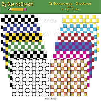 Backgrounds, Checkered - High Quality Vector Graphics