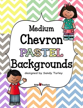 Backgrounds:  Chevron Medium PASTEL Colors