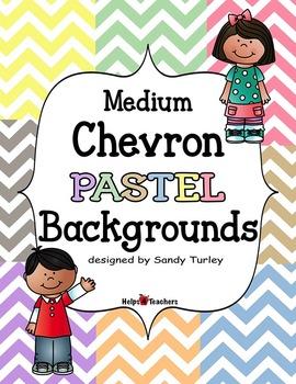 Backgrounds:  Chevron Medium PASTEL Colors
