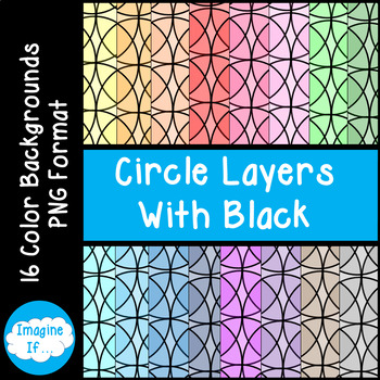 Backgrounds-Circle Layers With Black