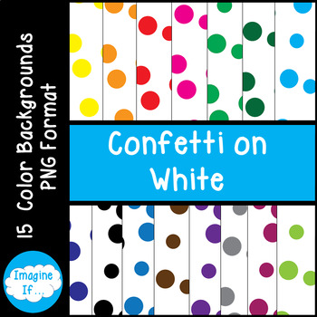 Backgrounds-Confetti on White