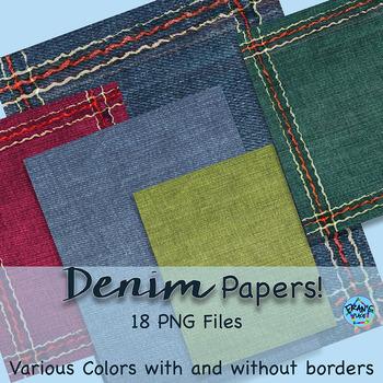 Backgrounds / Digital Paper: Denim