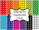 Backgrounds/ Digital Paper- Diamonds Are Anyone's Best Friend