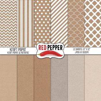Backgrounds / Digital Paper - Kraft Paper
