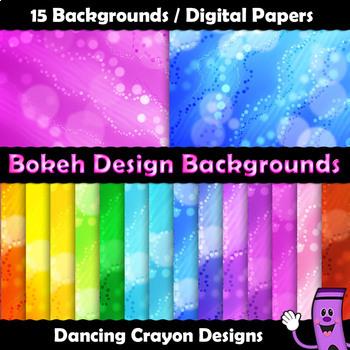 Backgrounds - Bokeh Design Digital Papers Clip Art