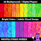 Digital Papers / Backgrounds Clip Art - Cloudy Brights