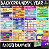 Backgrounds For The Year Clip Art Bundle {Educlips Clipart}
