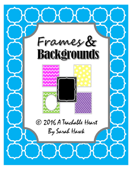 Backgrounds & Frames Pack- 65 Bright Digital Backgrounds & Scrapbook Paper