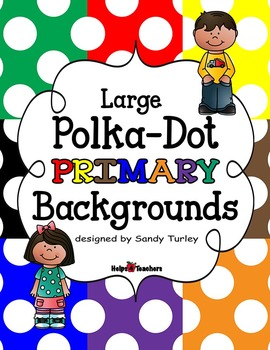 Backgrounds: Large Polka-Dot PRIMARY Colors