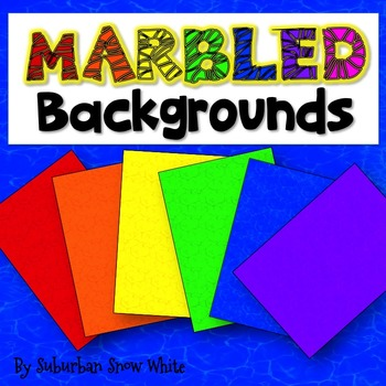Backgrounds: Marbled Rainbow (Bright)