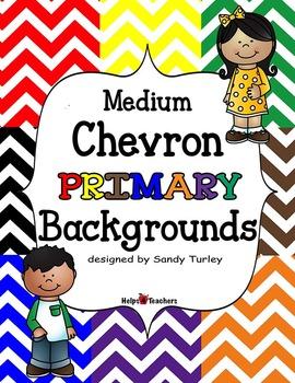 Backgrounds: Chevron Medium Primary Colors