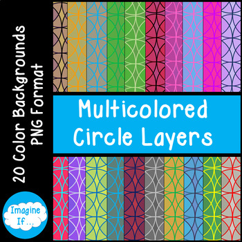 Backgrounds-Multicoloured Circles