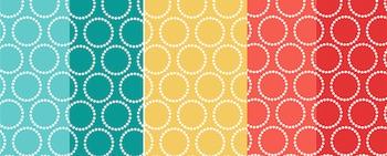 Backgrounds (Orange, Teal, Yellow)