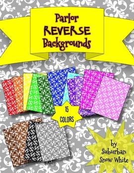 Backgrounds: Parlor  REVERSE ~ Set of 15 Colors