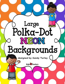 Backgrounds: Large Polka-Dot NEON Colors