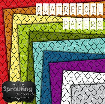 Backgrounds - Quatrefoil II {Digital Papers}