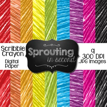 Backgrounds - Scribble Crayon {Digital Papers}