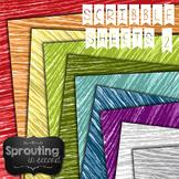 Backgrounds - Scribble Crayon II {Digital Papers}