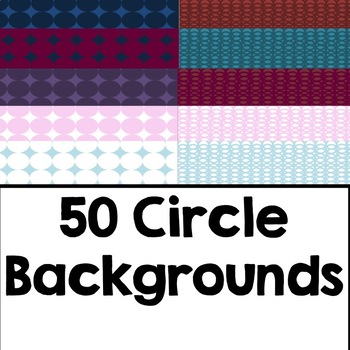 Circle Backgrounds- Commercial Use