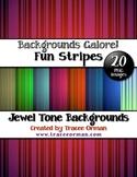 Backgrounds Stripes Jewel-Tone Colors Digital Paper Clip Art