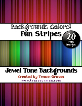 Backgrounds Stripes Jewel-Tone Colors Digital Paper Clip Art
