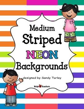 Backgrounds:  Stripes Medium NEON Colors