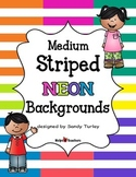 Backgrounds:  Stripes Medium NEON Colors