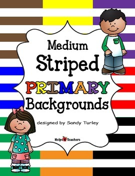 Backgrounds:  Stripes Medium PRIMARY Colors