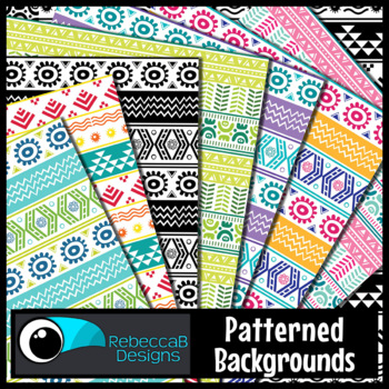 Tribal Patterned Digital Papers