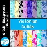 Backgrounds-Victorian Prints on Solid Backgrounds
