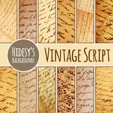 Backgrounds Vintage Scripts - Various Languages Antique Ephemera Digital Paper