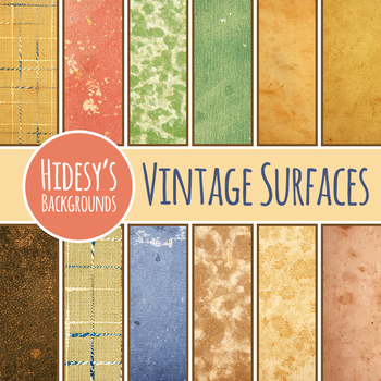 Backgrounds Vintage Surfaces Patterns / Digital Paper Clip Art Commercial Use