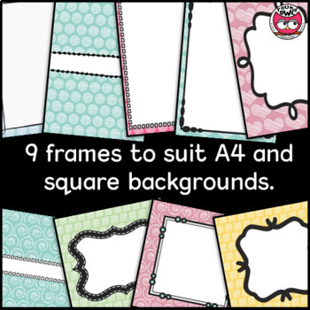 Backgrounds and Frames - Chalk it up