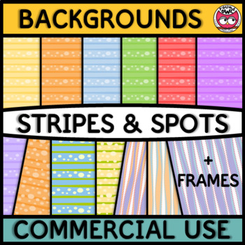 Backgrounds and Frames - Stripes and Spots