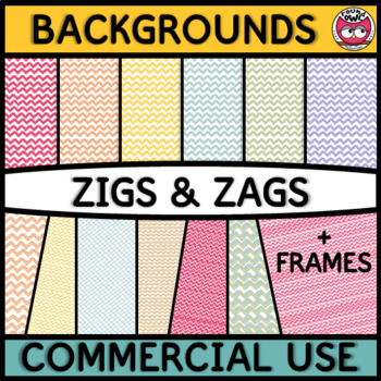 Backgrounds and Frames - Zigs and Zags