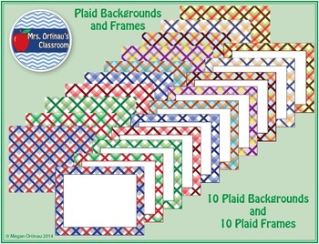 Backgrounds and Frames in Plaid (Set of 20)