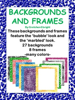 27 Backgrounds and 8 Frames with Bubble and Marbled Motif