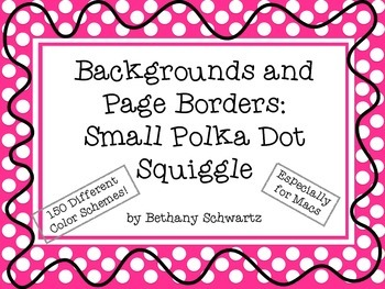 Backgrounds and Page Borders: Small Polka Dot Squiggle