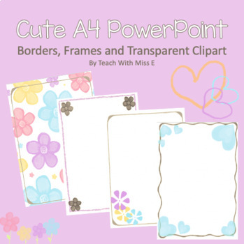 Backgrounds and borders for A4 PowerPoint slides